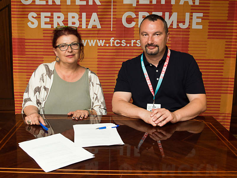 Signing of agreement between GFC - FCS regarding the distribution of Greek and Serbian films